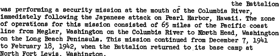 Excerpt from Administrative History of 803rd Battalion