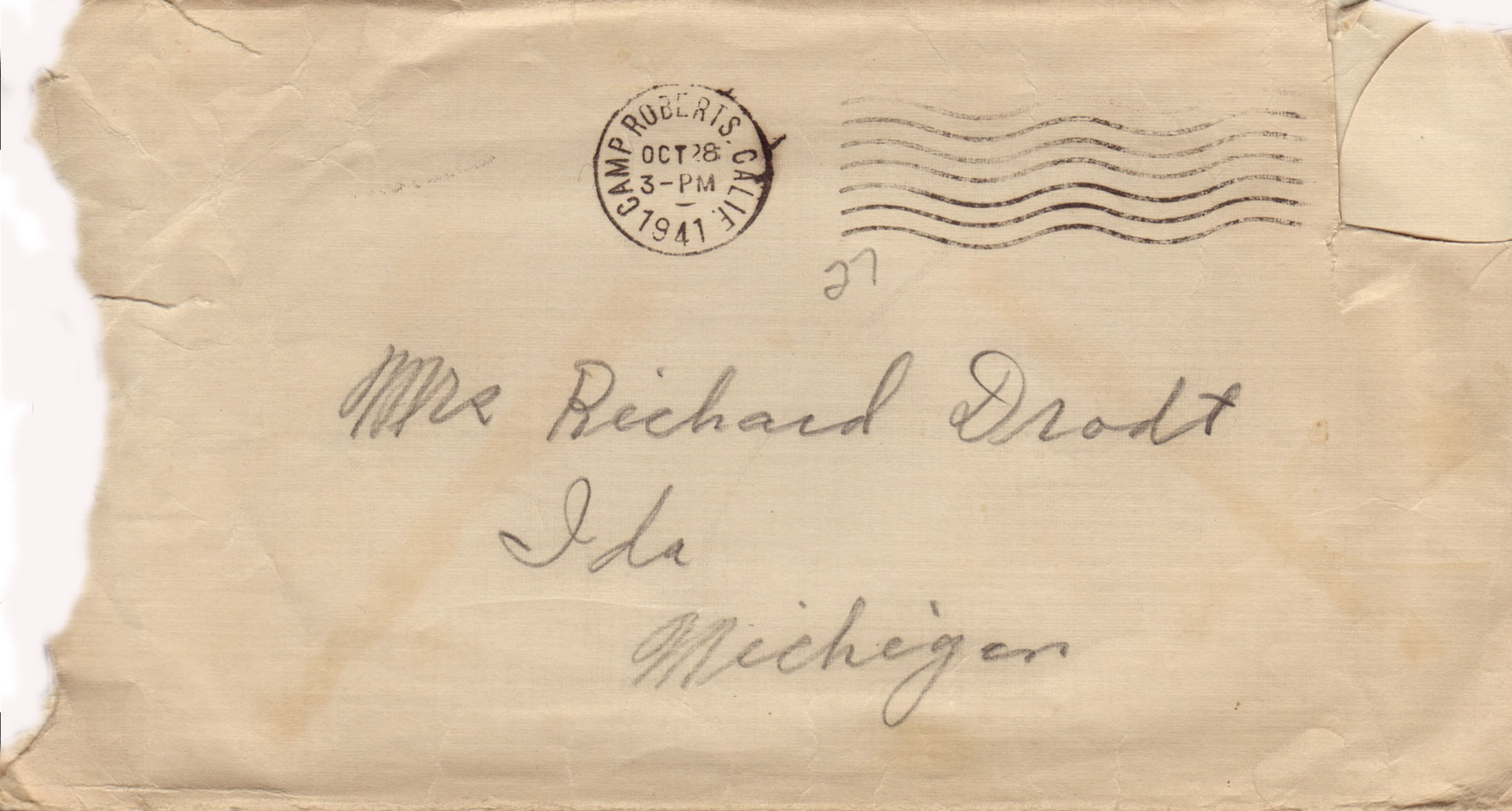 Envelope for Oct 28, 1941